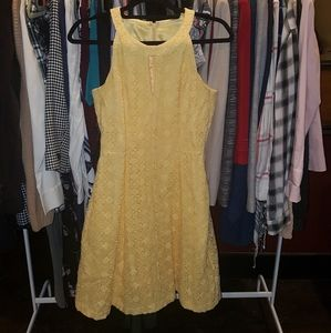 White House Black Market Dress | Geometric Lace